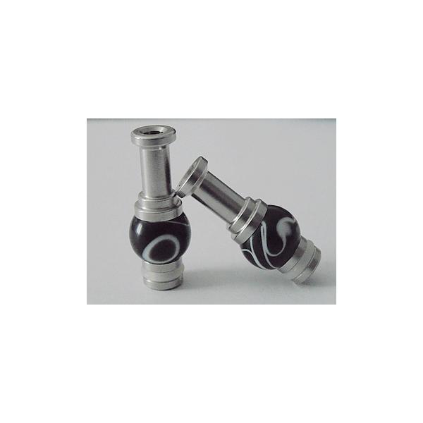 DRIP TIP 510 INOX Acrylique Noir