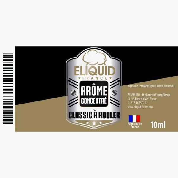 AROME CLASSIC A ROULER 10ml - Eliquid France