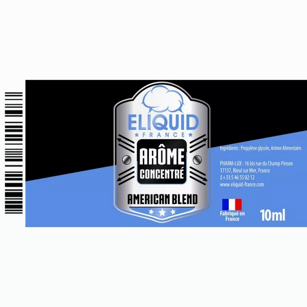 AROME TABAC AMERICAN BLEND 10ml - Eliquid France